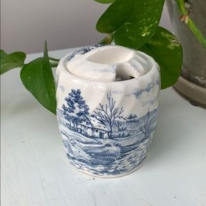 Vintage Nasco Blue Ceramic Vase, Home Decoration